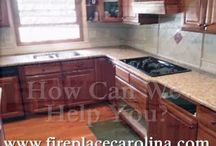 Giallo Ornamental On Red Cabinets