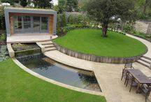 curved and circular formed gardens