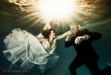 Underwater wedding pics