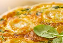 Quiches, pizza, snaking...