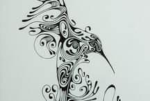 Pen and Ink Stylized Designs / My pen and ink stylized drawings