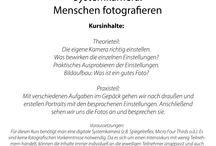 Fotoschule / Hier gibt's Bilder meiner Fotoworkshops