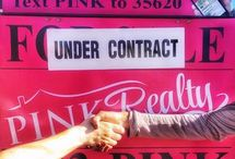For Sale Sign / Check out our Pink Realty Franchise For Sale Signs!