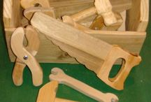 Kids wooden tools