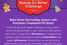 Baking for Better Challenge / www.pompeian.com/bakebetter / by Pompeian Inc