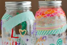 Mason Jar Ideas / Looking for mason jar crafts? Look no further! These mason jar diy crafts are fun and easy and make for great gift ideas! / by Kristi Corrigan