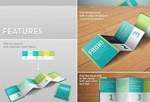 Z Shape Card Mockup