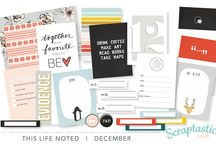 December 2015 This Life Noted kit by Scraptastic Club / Projects created with the December 2015 Scraptastic Club Stocking Stuffer kit