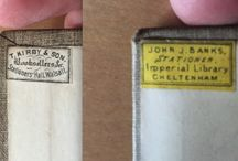 Old Bookshop Stickers / Stickers and logos from booksellers of times gone by!