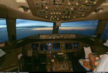 Cockpit civil aircraft / Cabina di pilotaggio aeromobili civili / by Leo Giannobile