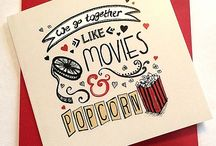 Hollywood Movie inspired Cards / Greeting Cards Birthday Cards Valentines Cards