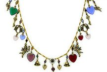Brass Cherubs and Hearts Jewelry / Brass Cherubs and Hearts Jewelry featuring cherub charms and glass hearts.  Valentines Day Bracelets, Necklacess, Earrings and Pins
