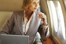 Business women in travel