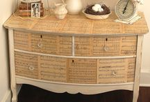 Sheet music chest of drawers / Furniture face lift