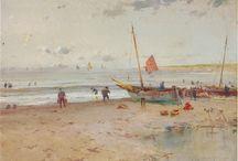 Playas. / Eliseo Meifrén Roig. Pinturas al óleo de playas.