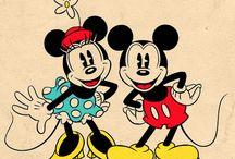 Mickey and Minie vintage