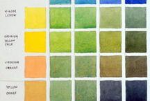 Aquarelle palette vert
