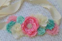 Cinta para embarazada decoradas con flores