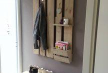 wood pallet portmanto