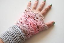 Crochet wrist warmers and gloves