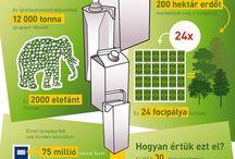 Környezetvédelmi infografikák