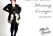 2015 - Monroe Color Blocking Cardigan / Cardigan which specially designed for sophisticated curvy women originally made by Indonesian Designer & Local Brand: Ella Es Bonita.