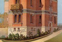 домики в викторианском стиле