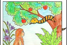 Adam and Eve - Creation Craft for Sunday School / Bible Crafts and Activities relating to Adam and Eve and Creation