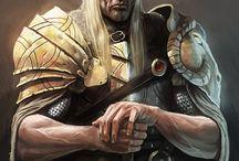 Guerreros fantásticos, mitológicos y legendarios / La fantasía heroica protagonizada por elfos, humanos, enanos, magos y monstruos que deambulan por mundos fantásticos.