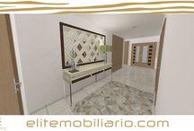 Hall de entrada em 3D Foto Realismo / Quarto 3D modelado e renderizado por Eliteline Mobiliario
