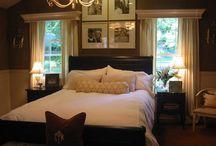 Bed between windows