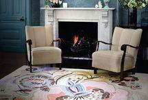 Floor rugs.
