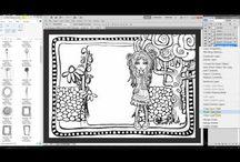 Video Tutorials of artwork