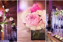 wedding floral decor / floral centerpieces, tablescapes