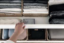 Garderobe organisering