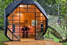 Architectural cabins/tents