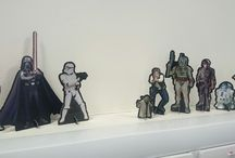 Star Wars / Fun at work with my cutouts