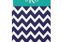 iPad Mini Cases & Covers / Personalized trendy custom iPad cases and covers with customizeable monogram or name.