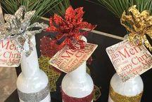 navidad botellas