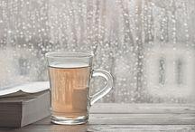 • REGEN & SONNENSCHEIN • / Kaffe + Decke + Buch + Regen = <3 was gibt's Schöneres. ... aber nach Regen kommt immer Sonnenschein!