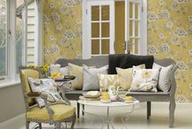 Decorate * Grey and Yellow Guest Room