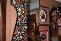 AYNALAR / crewel nakışı - handmade  -embroidery
