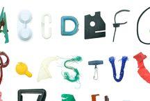 Marine Debris Typeface / Marine Debris, Plastic Pollution.