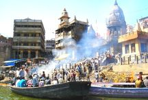 The Lapping Flames of Manikarnika Ghat / Most, among the 87 Ghats of Varanasi are rich with history and legends. The most interesting is surely the Manikarnika Ghat, known for Hindu cremation. Many legends are weaved around this ghat. For more click https://goo.gl/sdzfx7