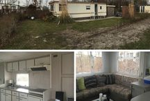 The Bivaque / Our beach lodge near the Sea.  A renovated / total make-over from our static caravan.