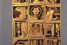 7th Cardboard Relief Sculptures