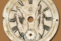 Часы циферблаты шкалы