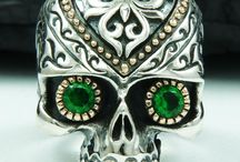 Sugar Skull Ring 925 Sterling silver