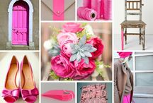 Neon Pink + Oyster Gray / Neon pink and soft gray wedding inspiration