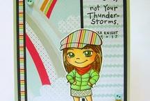 Yumi & Fumi cards I {heart}